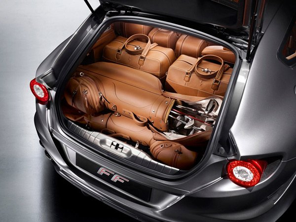 ferrari ff luxury coupe v12 supercar trunk photo