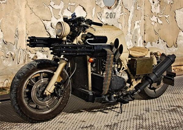 gattling gun bike