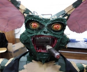 Life-sized Cardboard Gremlin: Never Get it Wet