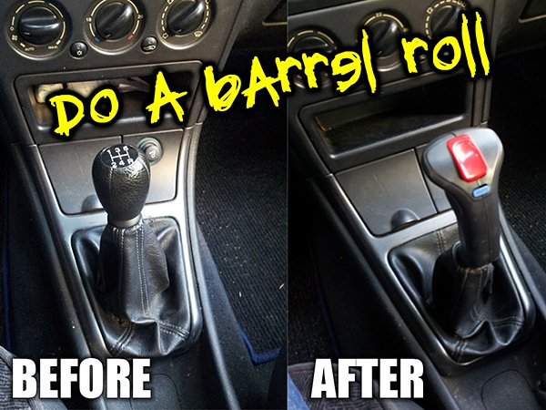 Joystick Shift Lever: Now Change the Steering Wheel to a Keyboard