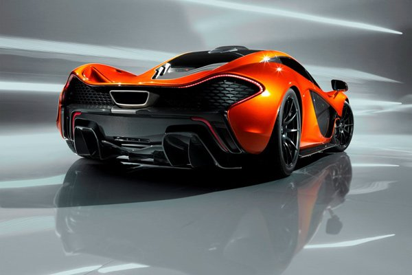 mclaren p1 supercar back