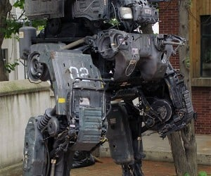 Backyard Mech Made from Truck Parts
