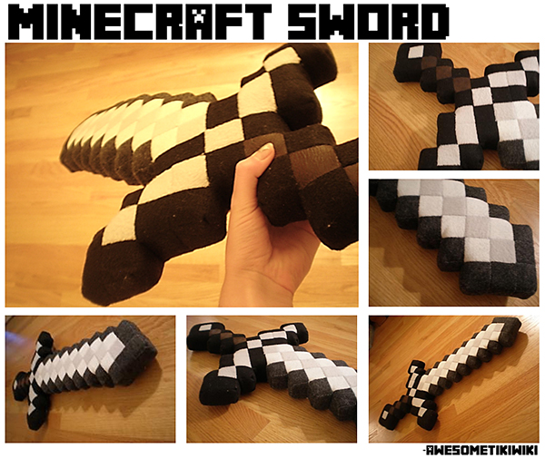 minecraft sword plush by awesometikiwiki