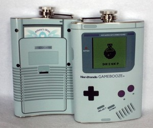Nerdtendo Gamebooze Flasks: Press A to Barf