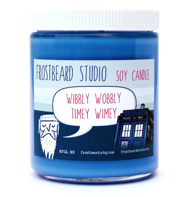 nerdy candle level one doctor who