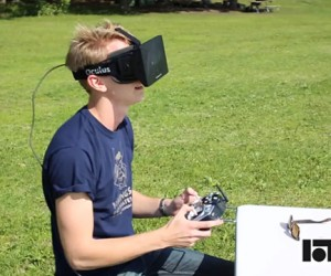 Drone Controlled in First Person Via Oculus Rift: Drone's Eye View