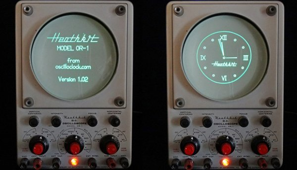 Oscilloscope Turned into an Awesome Clock