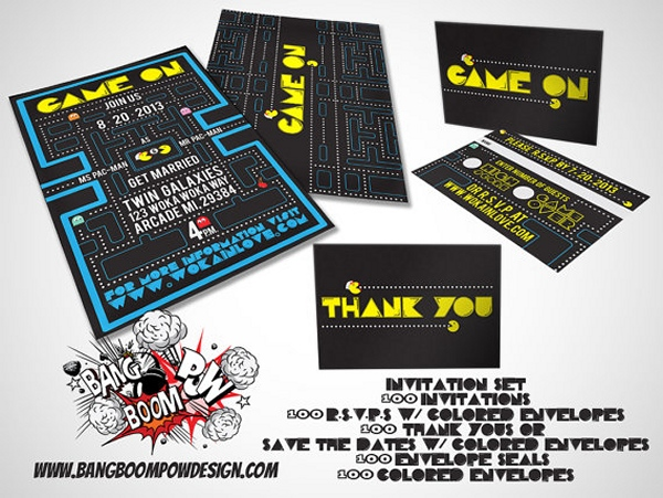 pac man invitations1