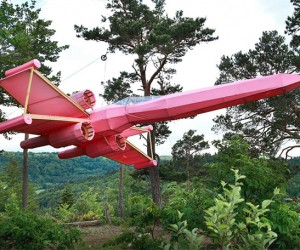 Pink X-Wing Fighter in the Forest: Because.