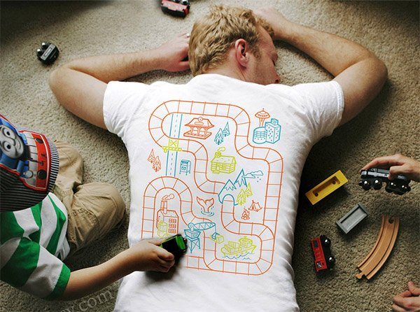 Put Your Kids to Work as Junior Massage Therapists with These Playmat T-Shirts