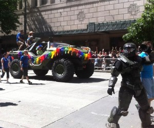 Master Chief Shows up at Seattle Pride Parade with a Warthog