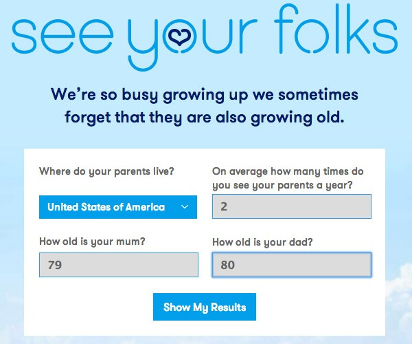 Saddest Site Ever? 'See Your Folks' Reminds You to See Your Parents… Before They Pass on