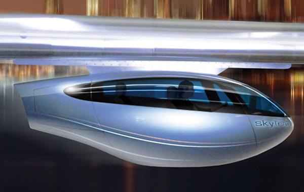 skytran tel aviv maglev train pod side photo