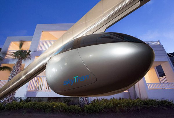 skytran tel aviv maglev train pod photo