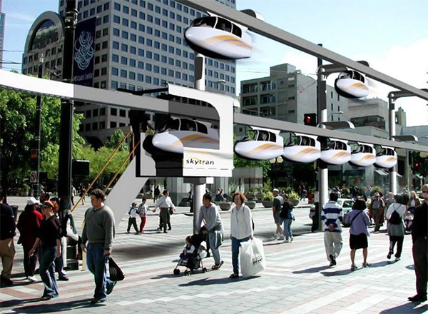 Skytran Magnetically Levitating Mass Transit System: The Future is Coming to Tel Aviv - Technabob