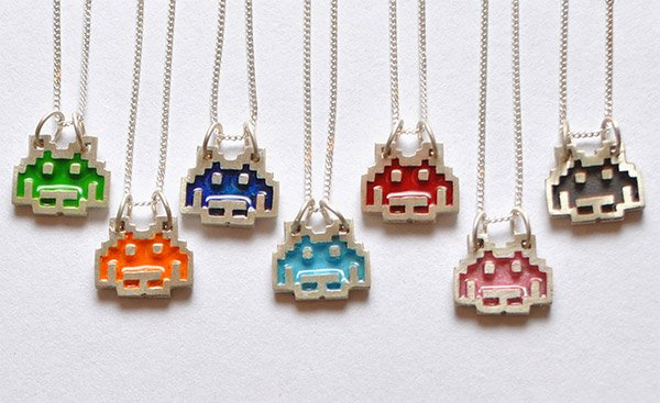 space invaders pendants 1