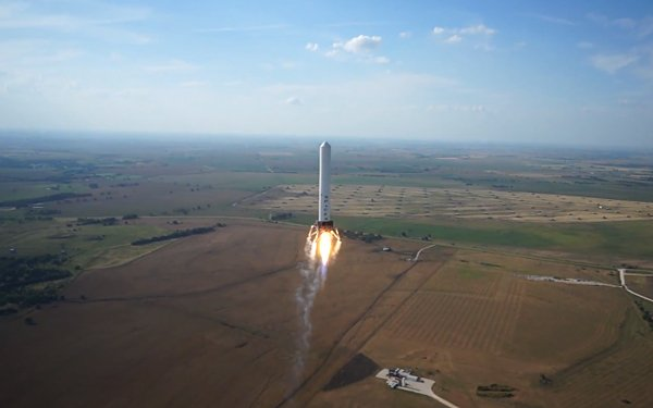 spacex grasshopper reusable rocket test