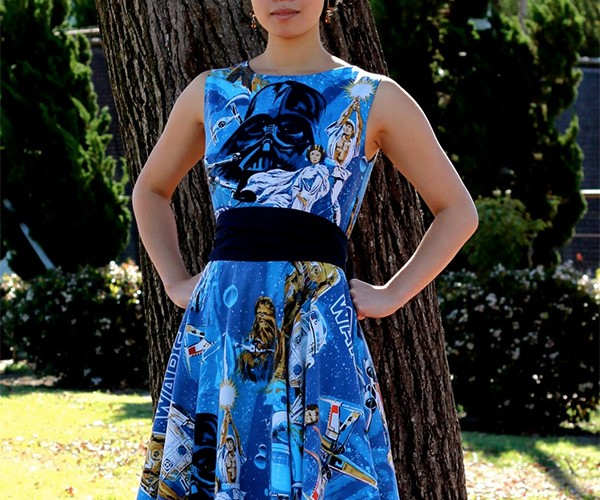 The Force is Strong with This Star Wars Dress Made from Bedsheets