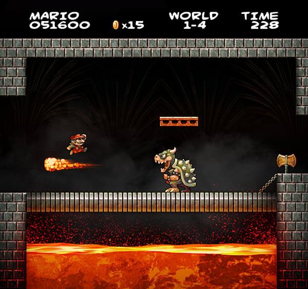 Super Mario Bros. Fan Art: It's a-me, in HD! - Technabob
