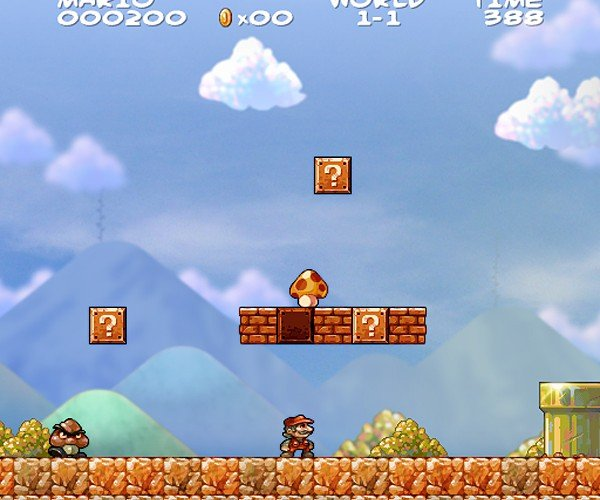 Super Mario Bros. Fan Art: It's a-me, in HD!