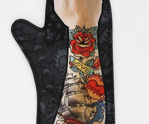 Arm Tattoo Oven Mitt Promises Painless Tattoo Removal