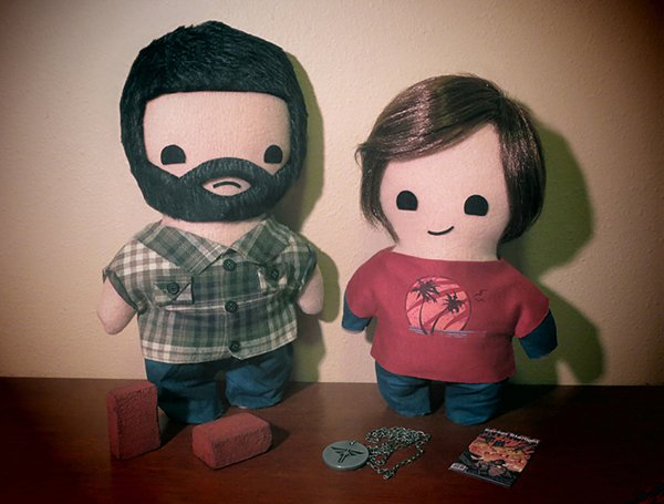 the last of us joel and ellie plushie by viciouspretty