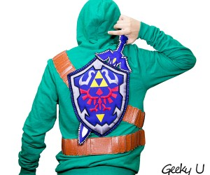 Legend of Zelda Sweatshirt with Sword and Shield: Armor & Armory