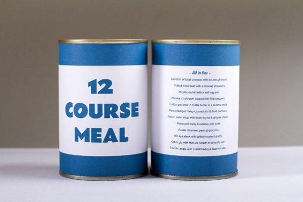Gourmet Dining on the Go: 12-Course Meal in a Can
