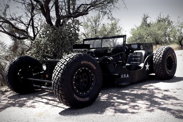 1945 willys jeep rat rod alone photo