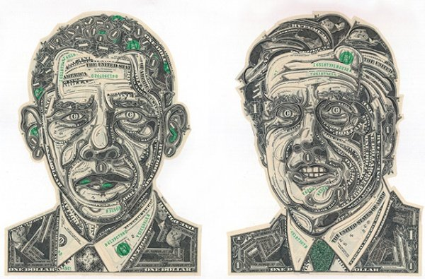 'The Art of Dollar' Collage Art Definitely Costs More than a Dollar