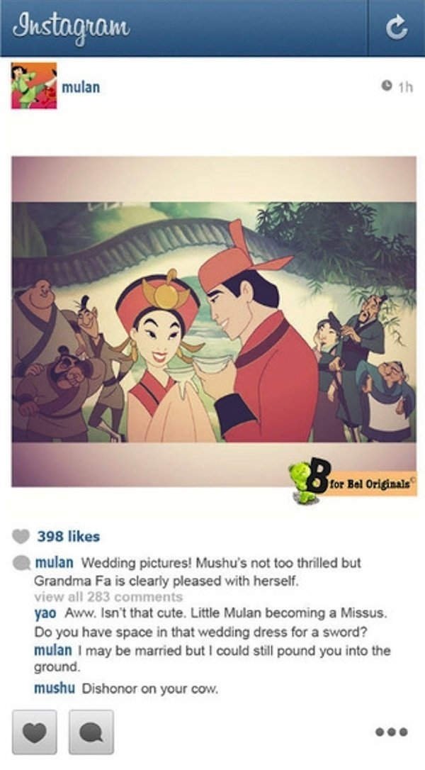 What If Disney S Princesses Used Instagram Technabob