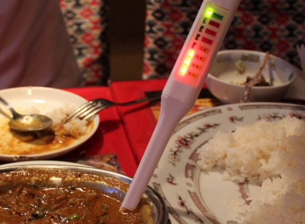 Handy LED Salt Meter Measures How Salty Your Food Is