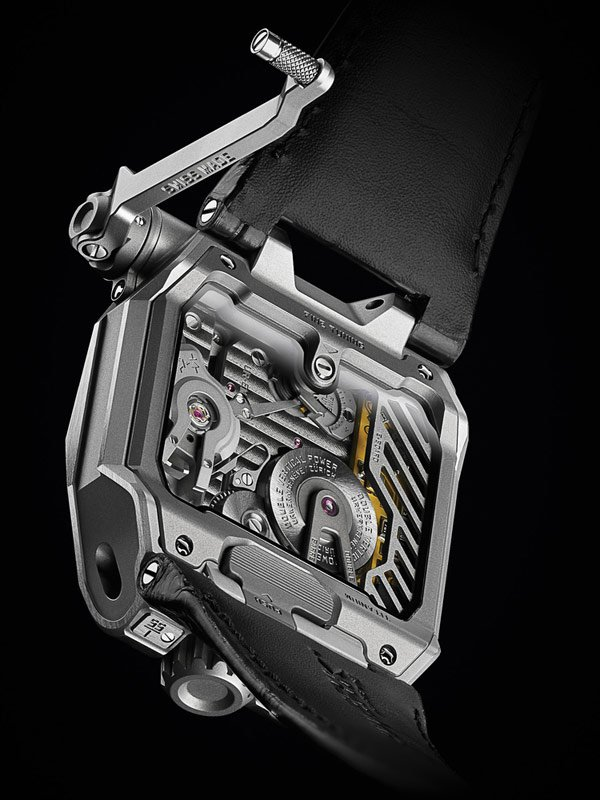 urwerk emc watch tester display back photo