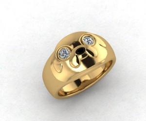 Adventure Time Jake Engagement Ring: Gold is for Suckers! Just Wear My Gut!