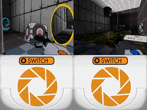 Portal Nintendo DS Homebrew: Aperture Science Handheld Portal Playing Device