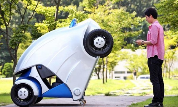 Kaist Armadillo-T Foldable Electric Vehicle: Open to Drive