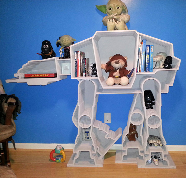AT-AT Walker Bookcase: The Empire Strikes Book - Technabob