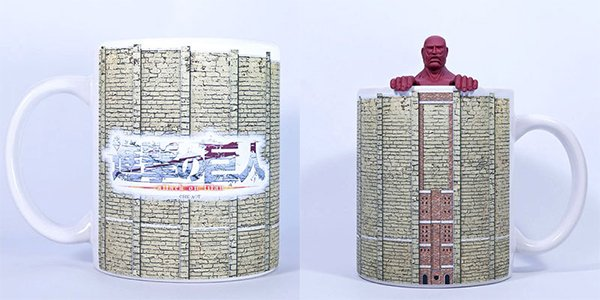 attack on titan colossal titan tea strainer and mug by acg