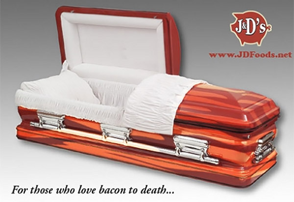 Bacon Coffin: You Are (Buried in) What You Eat