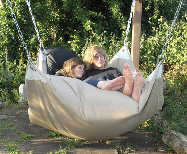 Beanbag Hammock is Suspended Awesomeness