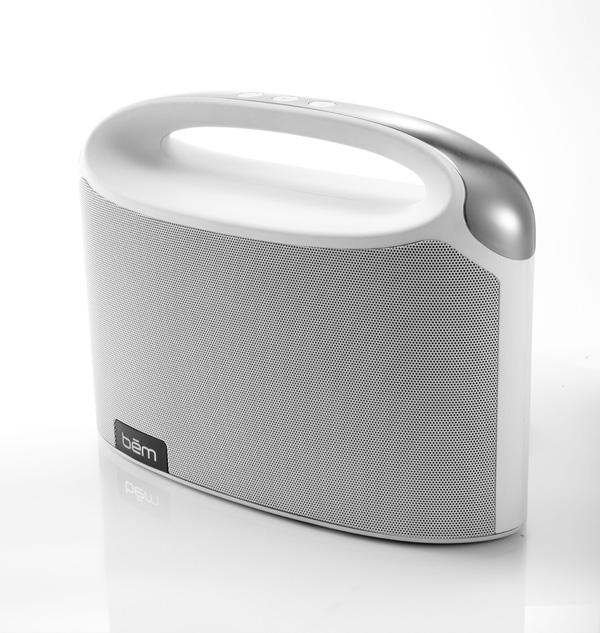 bem wireless bluetooth boombox white