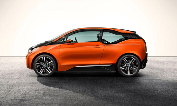 bmw i3 2014 electric vehicle side