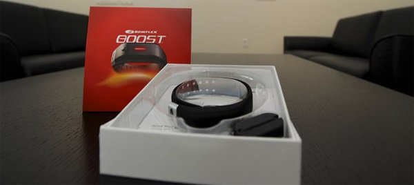 bowflex boost fitness band exercise tracker packaging photo