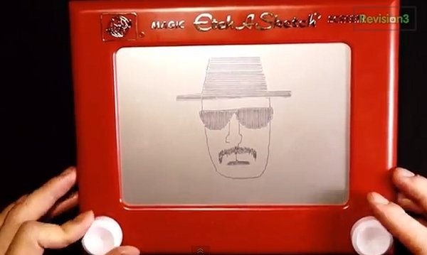Breaking Bad Recap Done Via Etch a Sketch