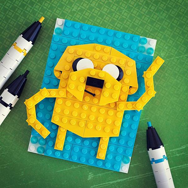 Portraits U0026quot;Drawnu0026quot; With LEGO Brick Sketches - Technabob