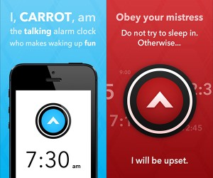 Carrot Alarm Clock for iOS: Now You're Waking with GLaDOS