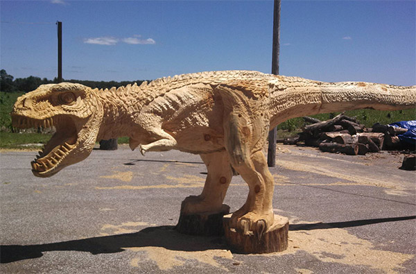 carved dino 1