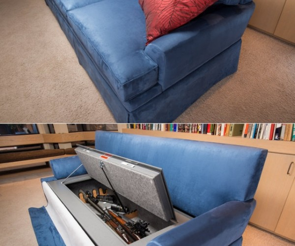 Bulletproof Couch and Gun Safe is a Great Combo