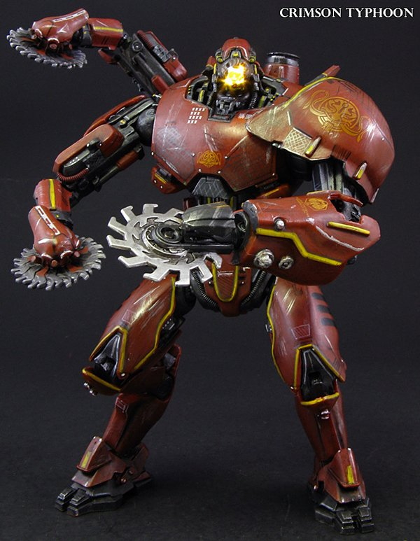 custom crimson typhoon pacific rim action figure by jin saotome