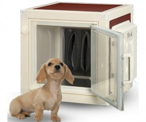 Dog Kennel Has a Built-in Air Conditioner (for Hot Dogs)